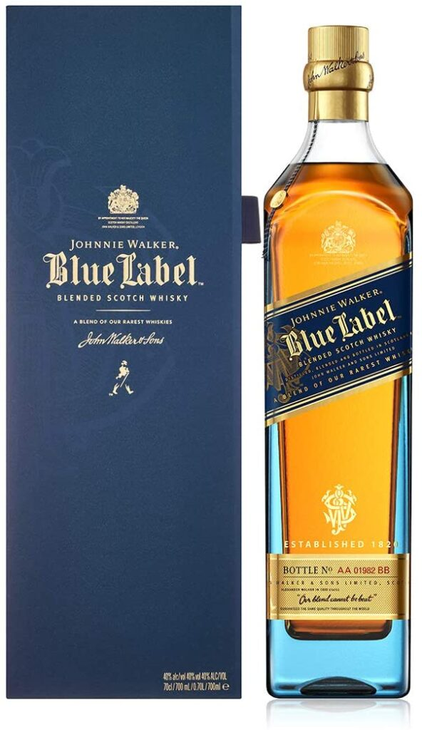 Johnnie Walker Blue mejor blended whisky esconcés