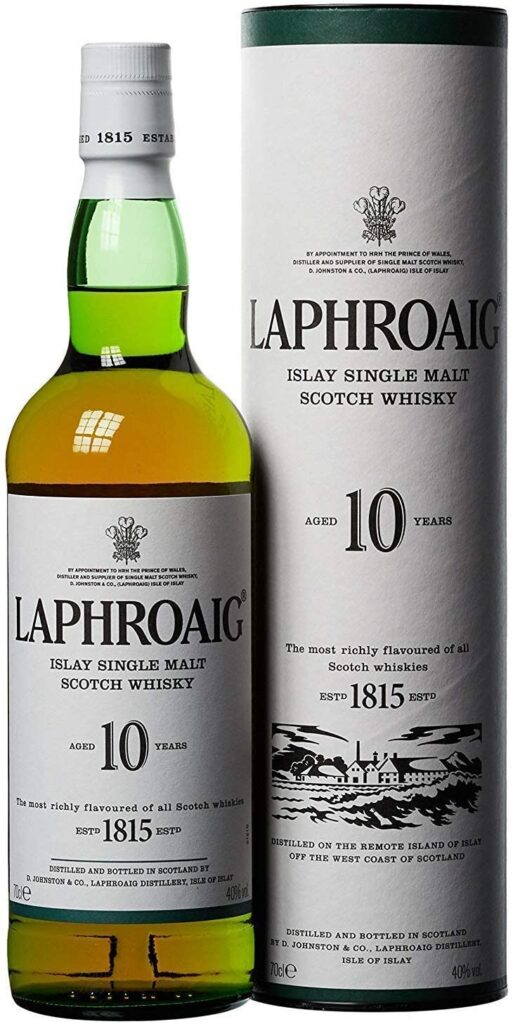 Laphroaig Single Malt Scotch Whisky - Whisky Escoces, 10 Años