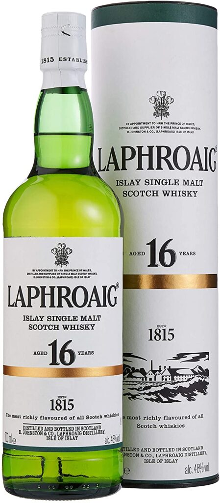 Laphroaig Single Malt Scotch Whisky - Whisky Escoces, 16 Años