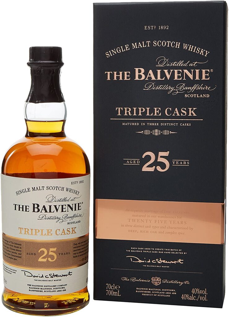 Balvenie 25 Year Old Triple Cask Single Malt Whisky