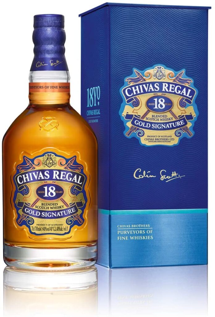 Chivas Regal 18 años Blended Whisky Escocés Premium