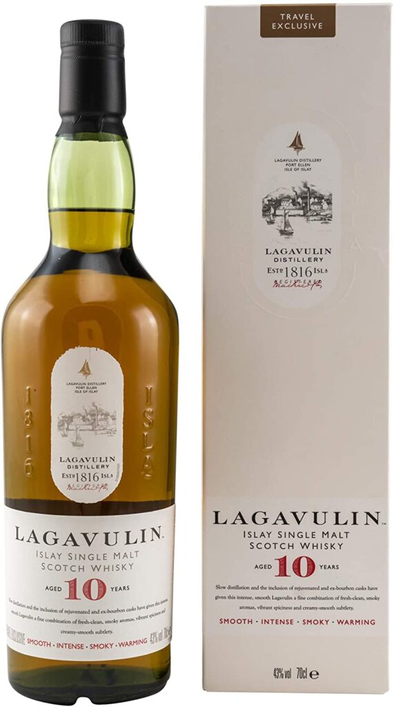 Lagavulin Whiskey 10 años whisky de malta simple