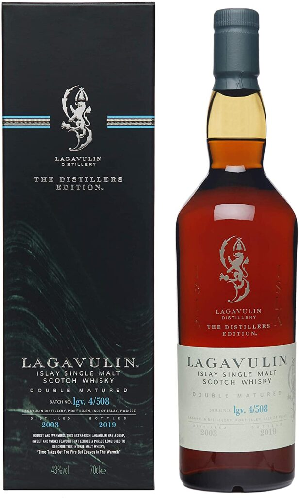 Lagavulin whiskey Distillers Edition 2018, 16 años whisky de malta simple