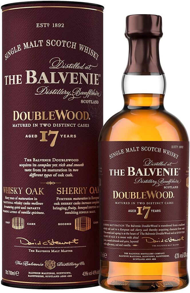 The Balvenie Double Wood 17 Años Whisky de Malta escocés