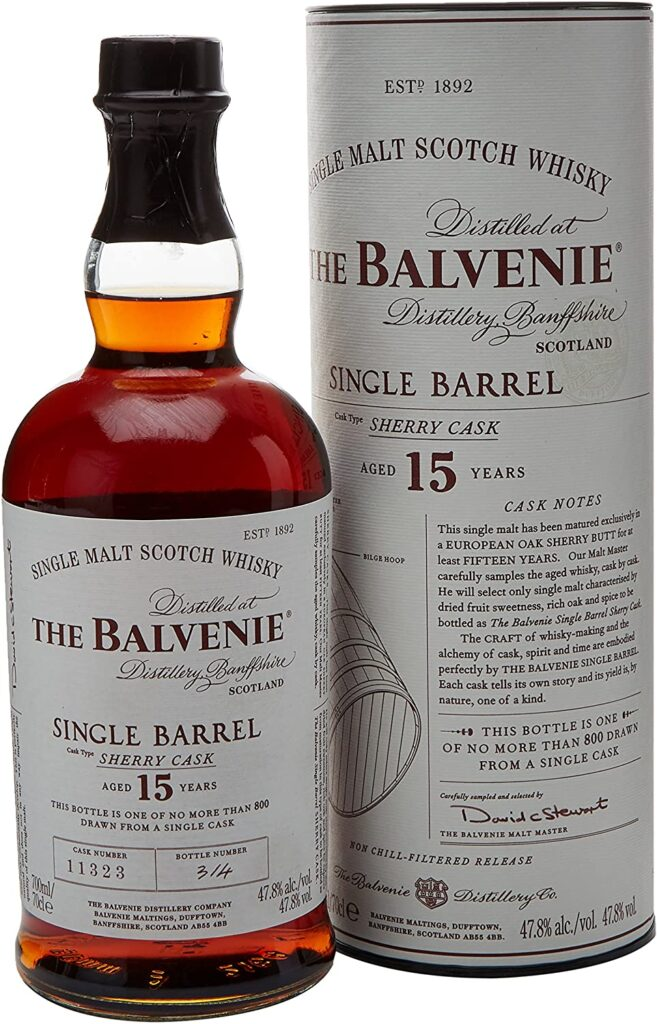 Whisky The Balvenie 15 años Single Barrel Whisky