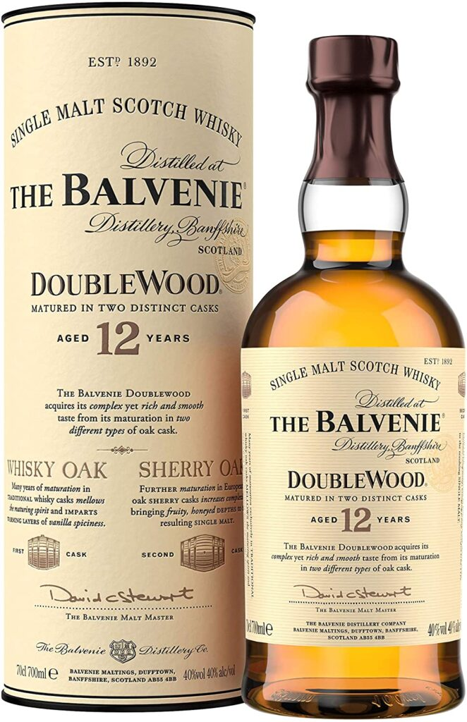 Whisky The Balvenie Double Wood 12 años whisky de malta escocés
